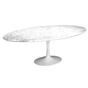 Malik Gallery Collection Eero Saarinen Oval Tulip Dining Table H - 54 saarinen table