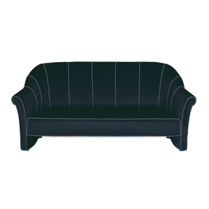 Velvet Three Seat Sofa